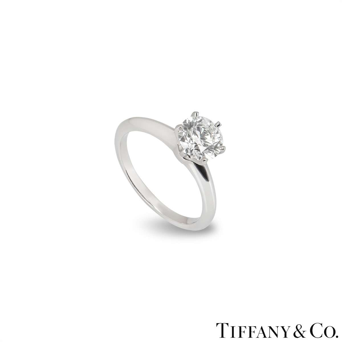 Tiffany & Co. Round Brilliant Cut Diamond Ring 1.67ct H/VVS2